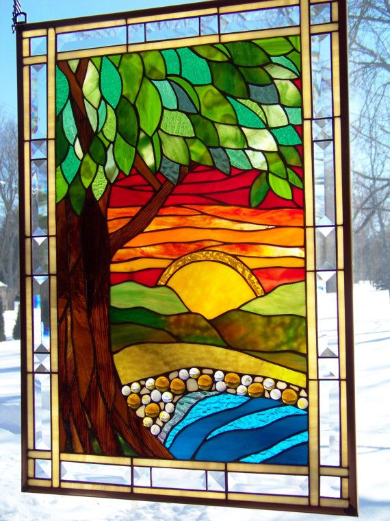 299 Best Scenic Stained Glass Images On Pinterest