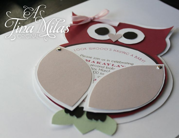 DIY Owl Invitations Modern by InvitationsElegance on Etsy, $8.00