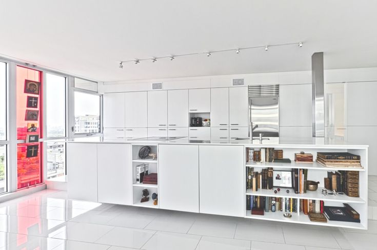 Love this island!   Contemporary-Property-Canada-01: Kitchens, Interior Design, Interiors, Redeveloper Apartment, Apartments