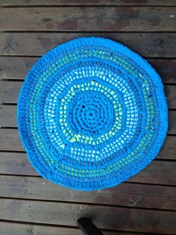 Tunisian crochet rug