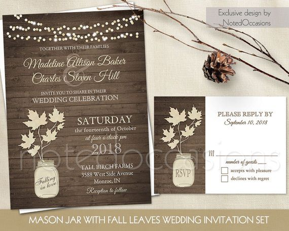 66 best Fall Wedding Invitations Rustic Chic images – Diy Country Wedding Invitations