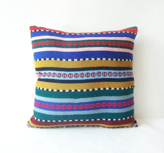 kilim romanian rug pillow