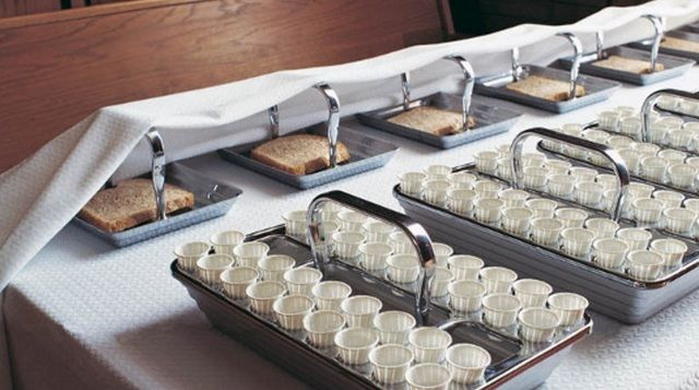 Often when Mormons speak of passing the sacrament, they are only referring to the passing that goes on from the sacrament table to the outer edge of the pews. But if you pay attention, you'll see that there's an even more powerful and intimate meaning in how the sacrament is passed within the pews.