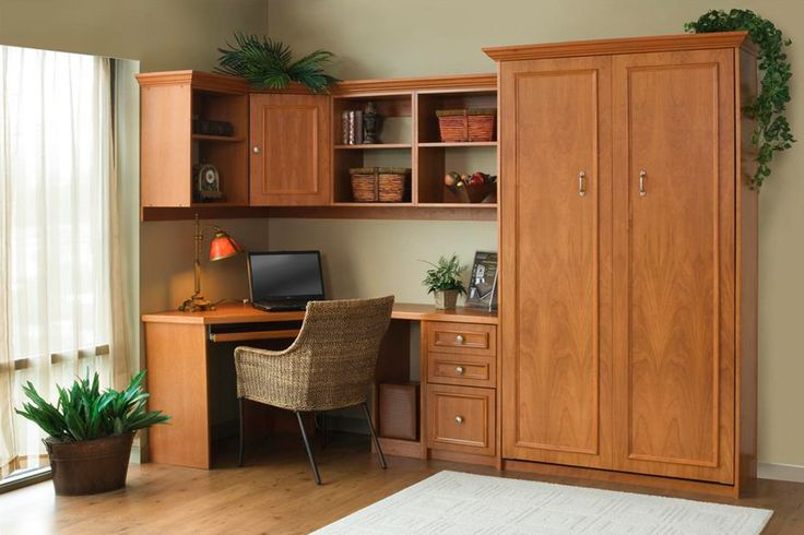 A Murphy Bed Stays Hidden Until You Need It: In a multi-use room, a Murphy Bed is out of the way until you need it. Hidden behind beautiful cabinetry, you'll never know it's there.