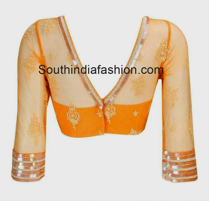 Chic and Stylish Latest Blouse Design ~ Celebrity Sarees, Designer Sarees, Bridal Sarees, Latest Blouse Designs 2014