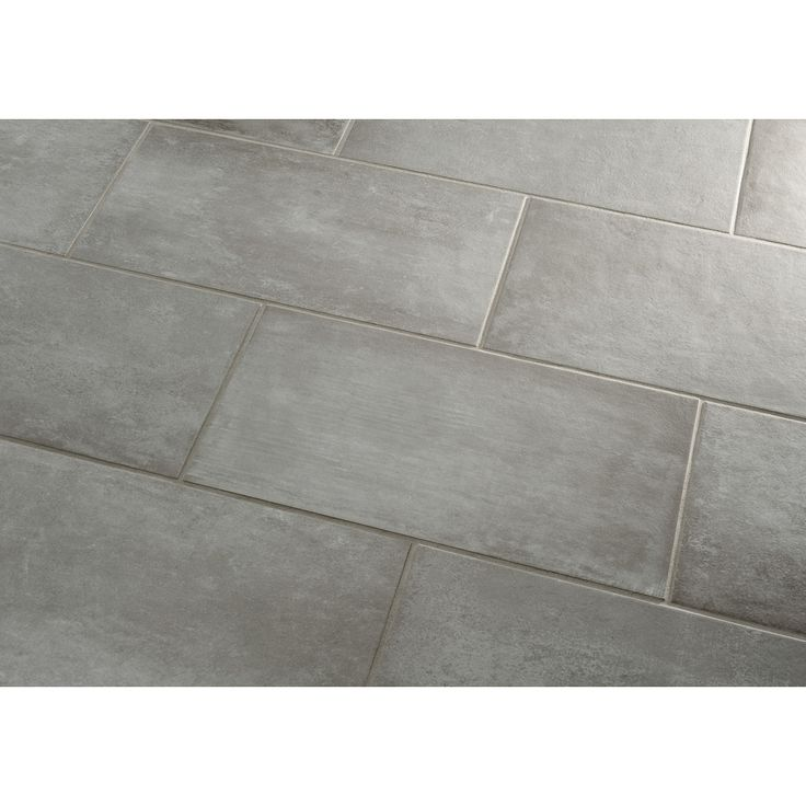 Shop style selections cityside gray porcelain floor tile common 12 in x 24 in actual - Lowes floor tiles porcelain ...