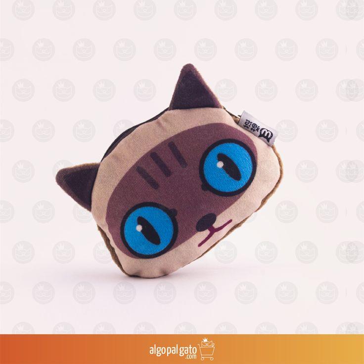 Nombre: Monedero Gato siamés  Talla: Pequeño Color: Azul