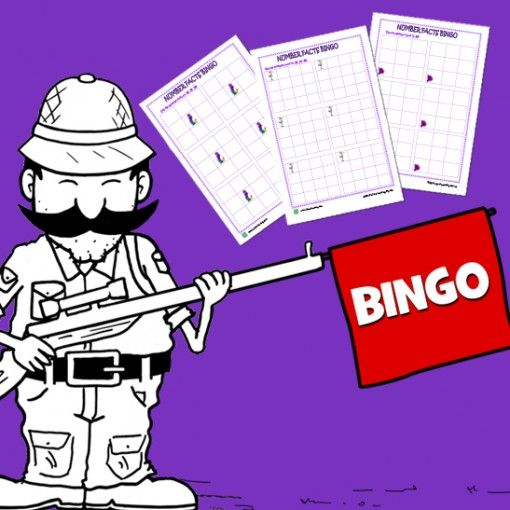 www.lizardlearning.com Number Facts Bingo A teacher can never beat those activities that harness learning that are disguised within a game. A teacher always has to have a few of these in their teaching toolbox.  This pack includes bingo card templates created for number facts 10-20, to 20, 25-50, 50-100 and 100 and beyond. Easy to laminate and store to use as a regular resource in your teaching career.