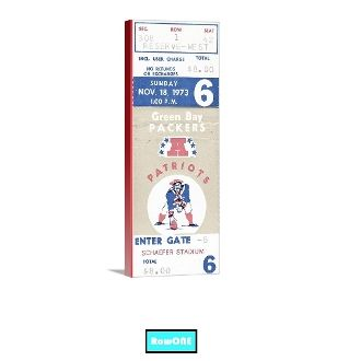Row One Brand. New England Patriots man cave décor, New England Patriots ticket art, vintage New England Patriots art, vintage football art, vintage ticket art, Row One Brand gifts, Row One, Row One sports gifts, unique Patriots gifts