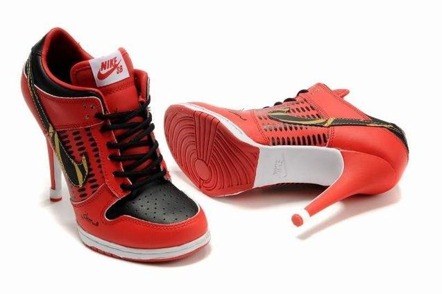 Nike Shoes Buy Online Wmns Dunk Heels Low Red Black Sexy  $101.14