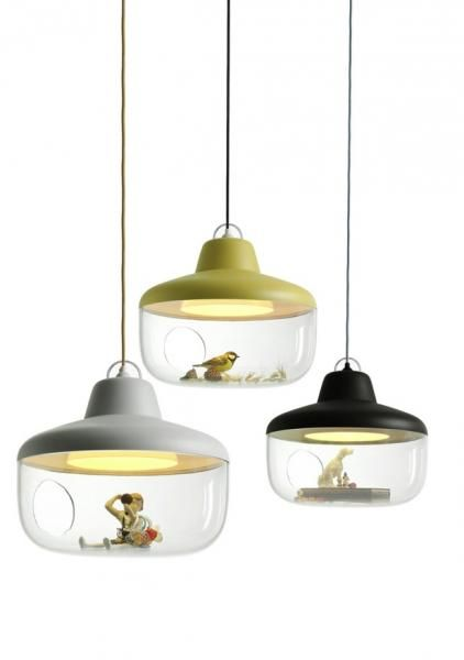 "Suspension ""Favourite things""-Chen Karlsson- gris clair/noir/vertanis - D45 H200 - 295€ - lacorbeille.fr - 289€ chez absolumentdesign.com"