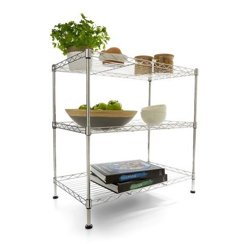 3-Tier Chrome Shelf Unit