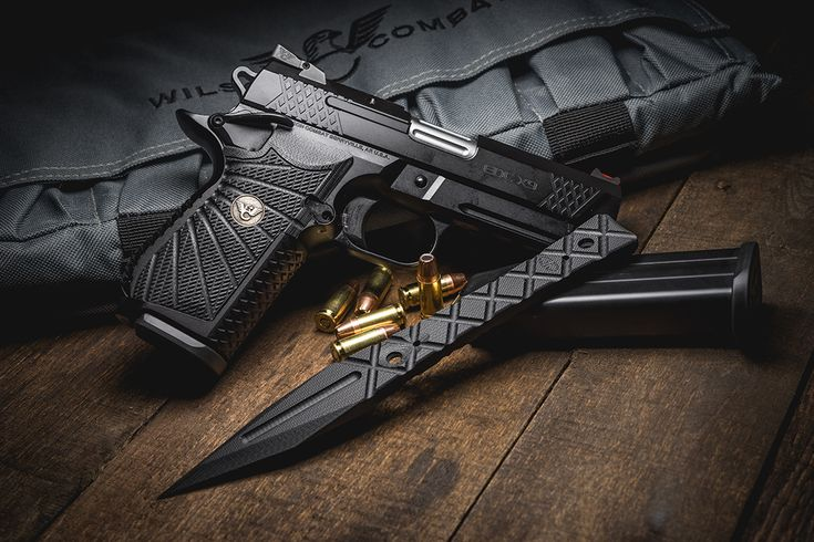 Wilson Combat EDC X9 with a custom VZGrip. Also in this photo is a new VZ G10 knife.