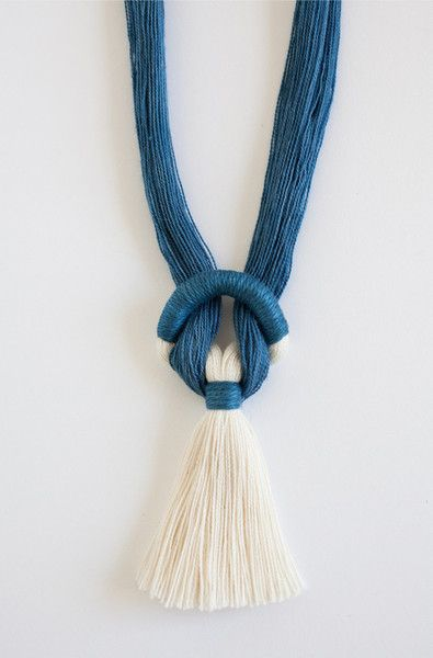 Gamma Folk Necklace No. 9 in Indigo