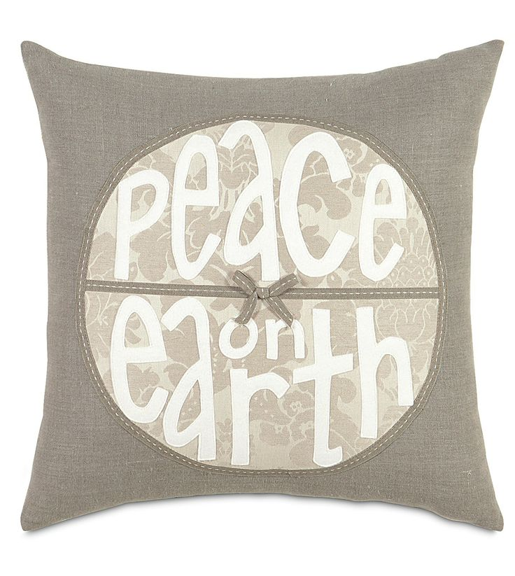 Peace On Earth Down Pillow- 20x20