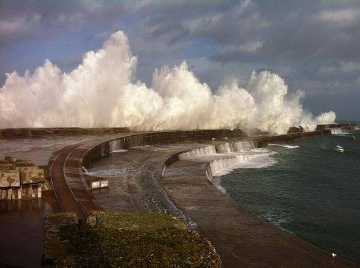 Billy Watt's amazing capture of Alderney Breakwater in the January storms of 2014.