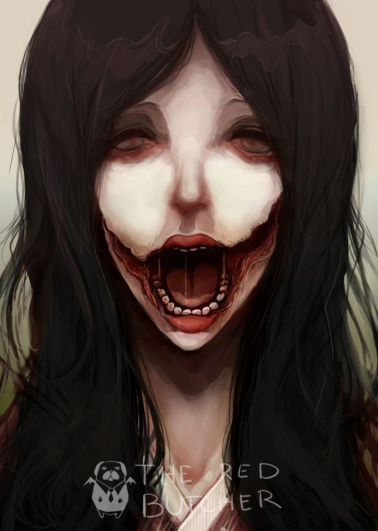 Kuchisake Onna - Split-mouthed Woman by MrRedButcher on deviantART
