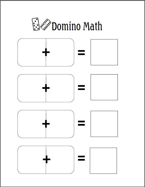 Domino Addition For Prek K The Homeschool Den Matematica