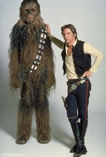 Hans Solo (Me) and Chewbacca (Jesse). I have ideas for that fur suit. I bet Mom will too.