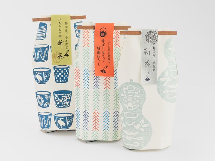 Fab authentic patterns and paper printing are used for Yamasu tea packaging