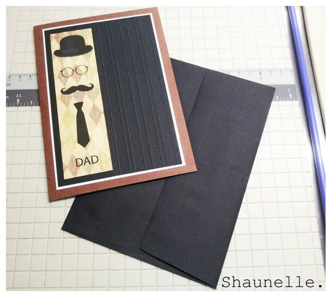Father's Day Card #Hat #glasses #mustache #tie #fathersday #handmade #dad #stationery #handmadecard by Shaunelle Ramesar
