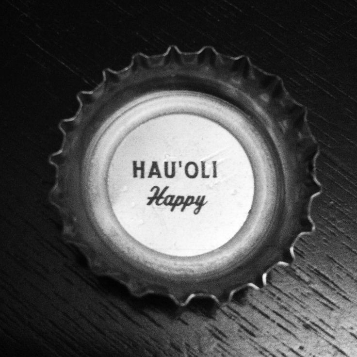 "HAU'OLI = Hawaiian for ""Happy"" (Kona Brewing Company cap) #craftbeer"