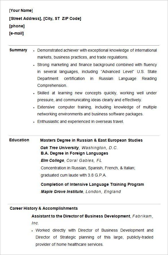 Best 25 College resume ideas on Pinterest  Resume