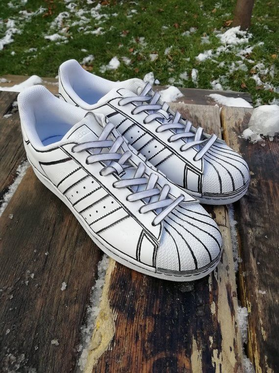 Wonderbaarlijk Comic book Custom adidas superstar, custom sneakers , custom shoes AE-27