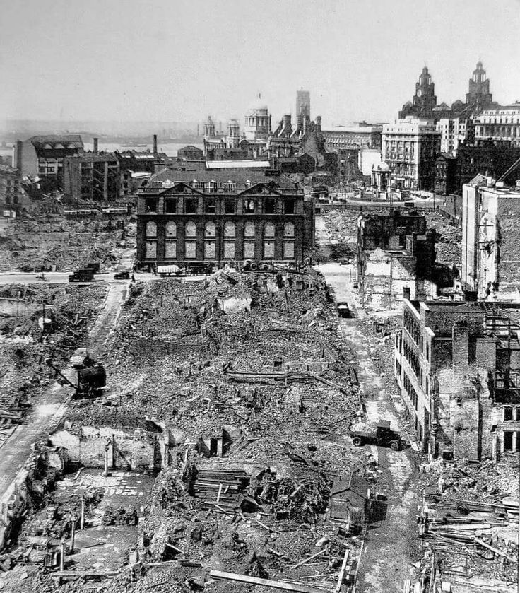Liverpool, in the aftermath of Luftwäffe Blitz-bombing raids, May 1941