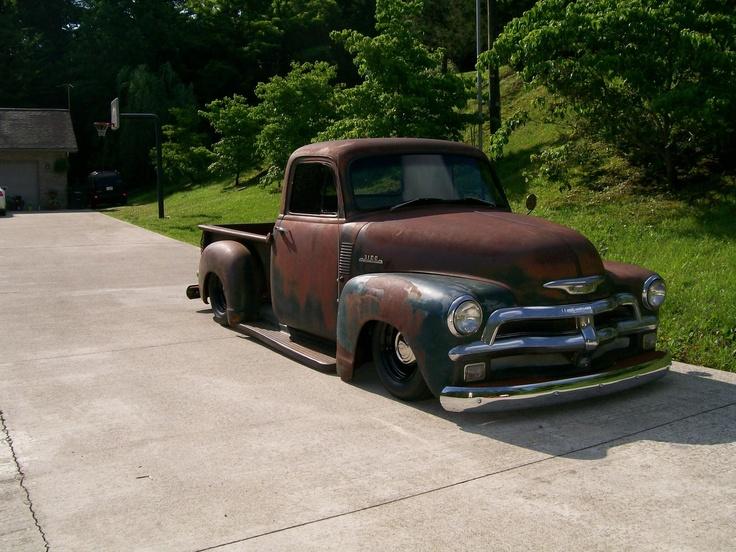 rat rods | Hot Rod e Kustom: Chevrolet Pick-up boca de sapo1954 estilo Rat Rod.