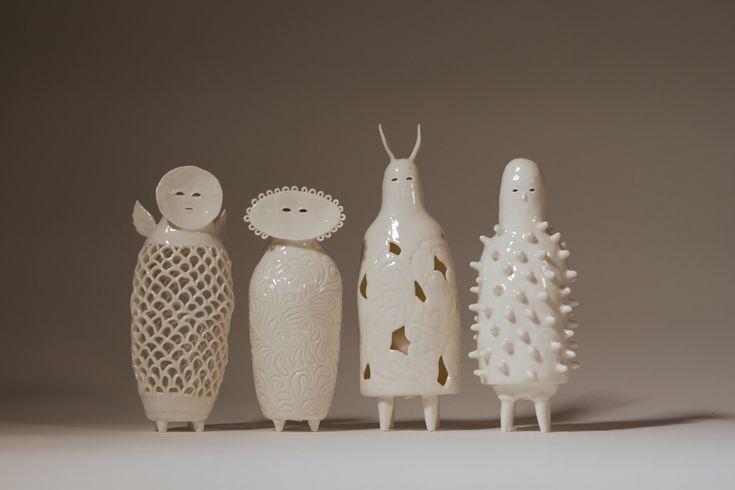 Sophie Woodrow, ceramic artist, Bristol. Stunning, haunting, ethereal work...