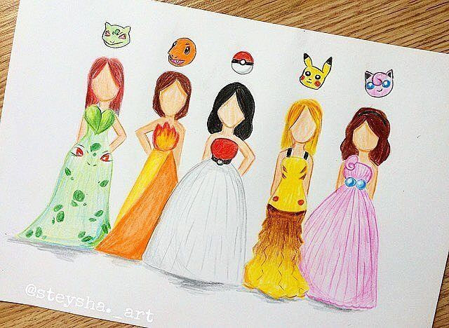 Wich one is your favorite dres!!?? Follow us! @trendyartworks Amazing sketch by @steysha._art Tag your friends!