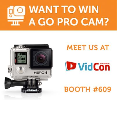 Its just a week left before the 6th annual ‪#‎VidCon‬ conference – one of the world's largest online video conventions. Meet the ‪#‎VideeTV‬ team exhibiting at the Booth #609, where a brand new Go Pro Hero Camera is waiting for you! The contest will be held among ‪#‎VideoCreators‬ at 3 PM on July 25th.