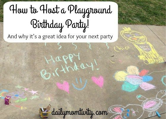 Tips on why you should host a playground birthday party