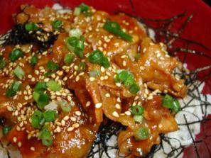 料理下手さんの簡単レシピ豚ロースの韓国風照り焼き丼