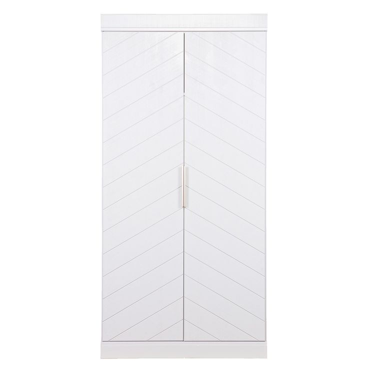 Who says style has to stay inside your wardrobe? This stunning Connect 2 Door Wardrobe in White Herringbone design is a wardrobe worthy of even your poshest frocks (or best Tweed jacket!) Aunique cabinet that combines retro Herringbone pattern with a  functional design to create a quirky, contemporary 'Scandi chic' storage solution. Made from FSC Mix responsibly sourced pine wood, this eco-friendly furniture piece can be customised to suit your needs - it comeswith an interior shelf and…