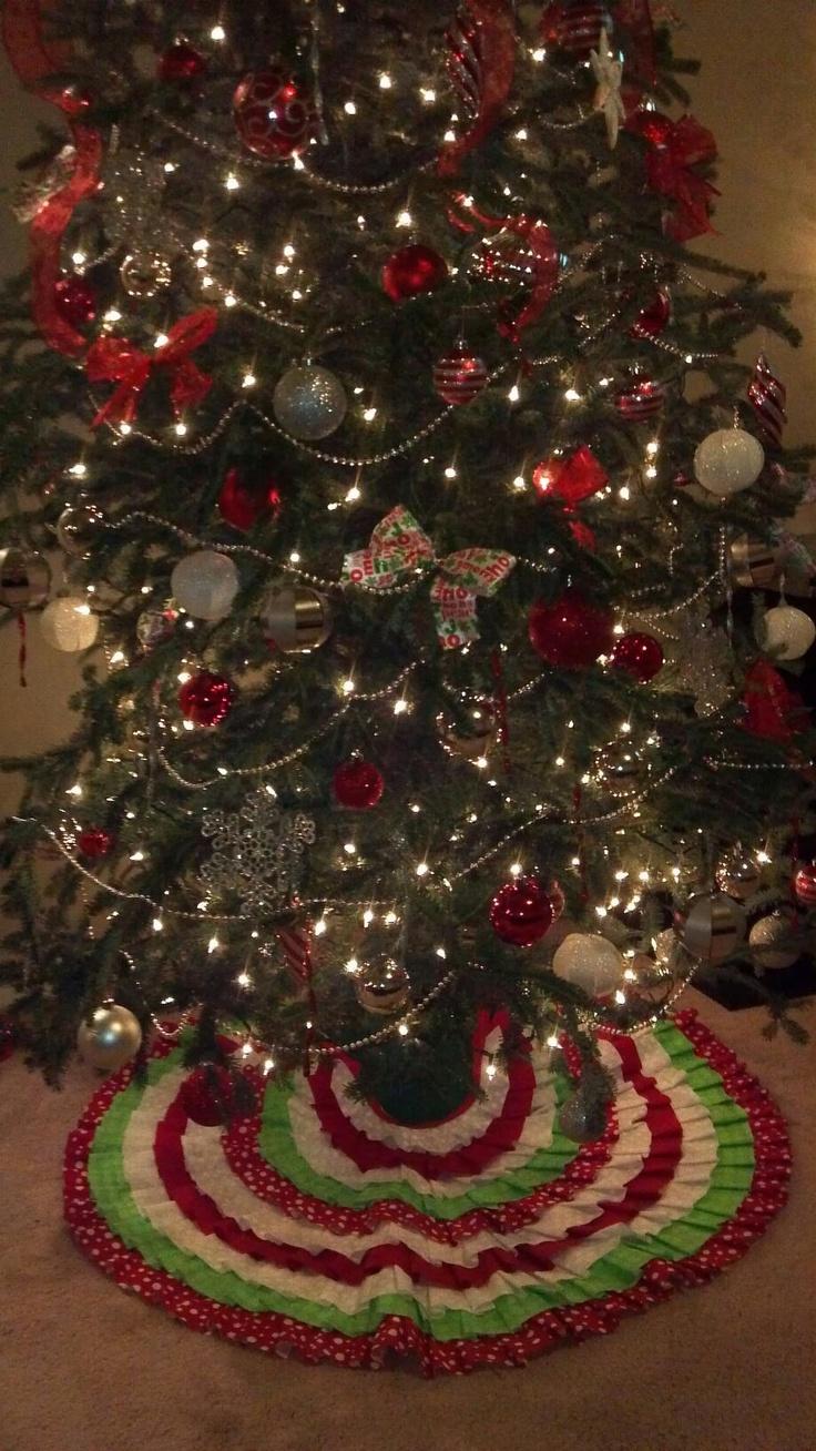 Pinterest tree skirts christmas tree skirts and old wedding dresses