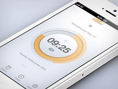 Dribbble - Clock App Concept by Piotr Kwiatkowski