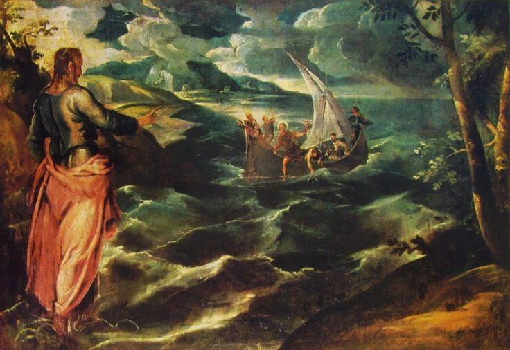 Tintoretto 1518-1594 cristo sul mare di galilea