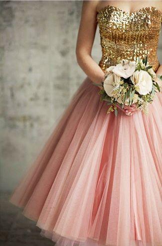 Blush Pink and Gold Bridesmaids