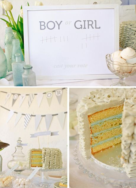 Baby shower: Shower Ideas, Gender Reveal Parties, Party'S, Heart Pears, Parties Ideas, Awesome Gender, Gender Reveal Cakes, Baby Shower