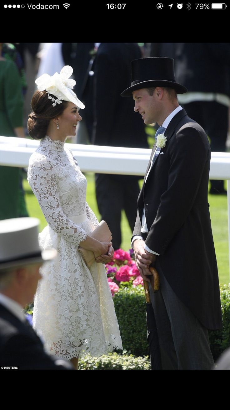 Royal Ascot 2017 a private moment between William and Kate