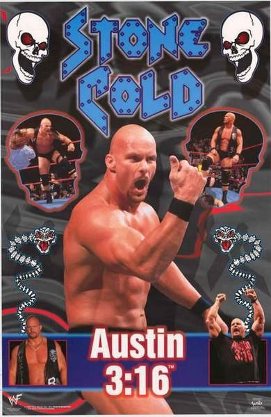 Stone Cold Steve Austin 1999 WWF Wrestling Poster 22x34 – BananaRoad