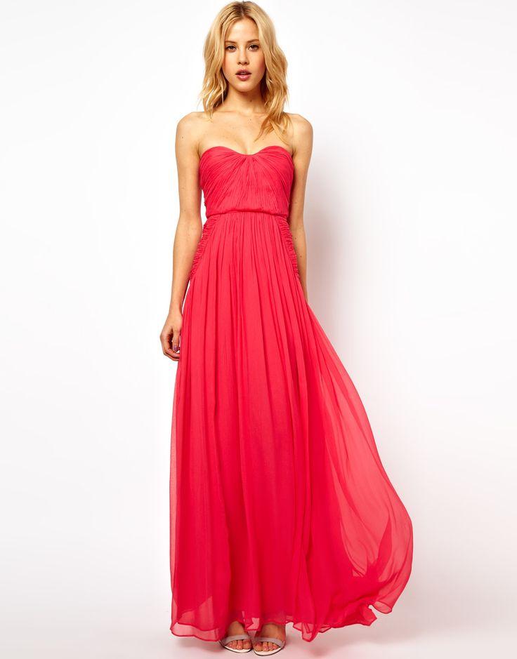 Strapless long dresses for summer