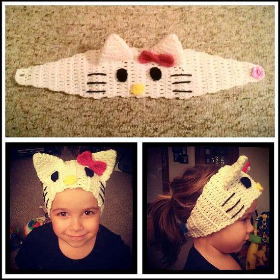 Hello Kitty Crocheted Ear Warmer