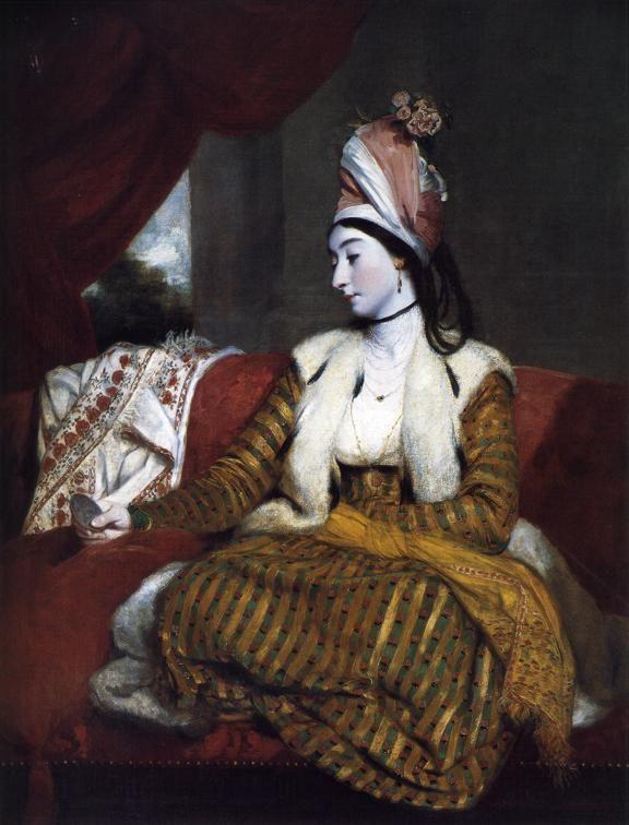 Jane Maltass (Mrs. Baldwin) in Eastern Dress, by Sir Joshua Reynolds, 1782. Compton Verney art gallery