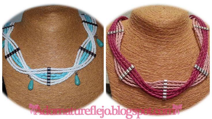 Collares cordón trenzado ideales para primavera  adornatureflejo.blogspot.com.es