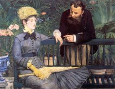 In the Conservatory, 1879 by Edouard Manet  #manet #paintings #art