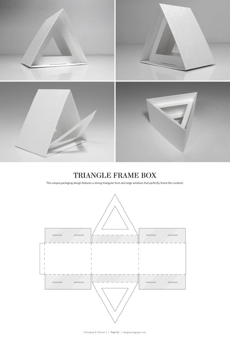 Triangle Frame Box – structural packaging design dielines