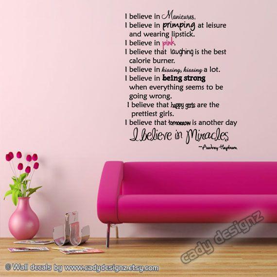 Girly Bedroom Audrey Hepburn Poster: Audrey Hepburn Wall Quote